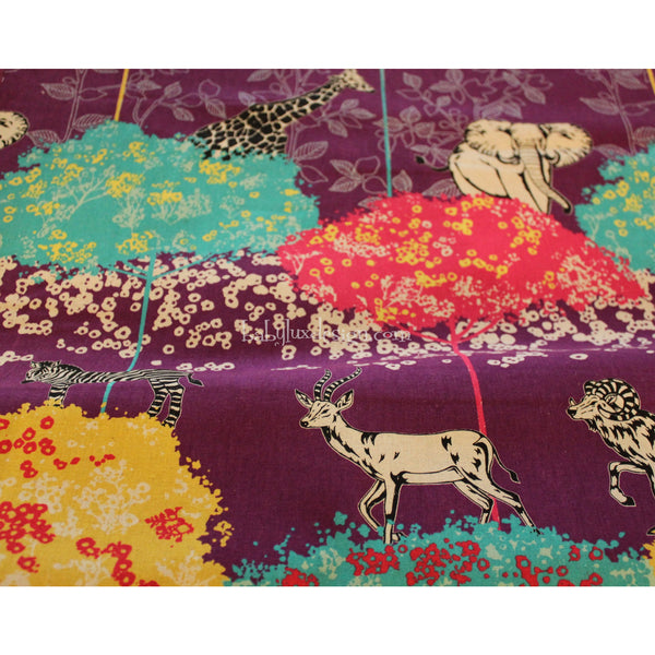 Etsuko Safari purplesuko fabric