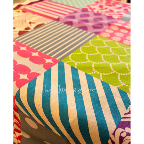 Patchwork print fabric - BabyLuxDesign