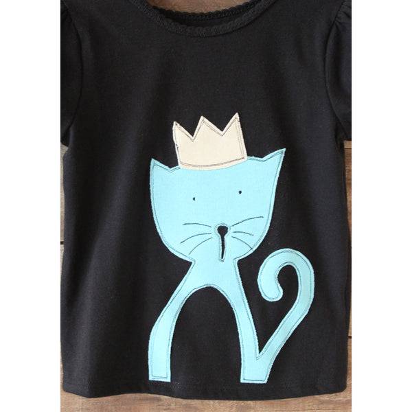 Girls Kitty T-Shirt - BabyLuxDesign