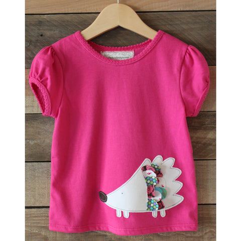 Hedgehog Girls T-shirt - BabyLuxDesign