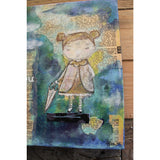 """Rain Rain"" Original mixed media painting by Tyler Larsen - Baby Lux Design"
