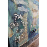 """Rain Rain"" Original mixed media painting by Tyler Larsen - BabyLuxDesign"