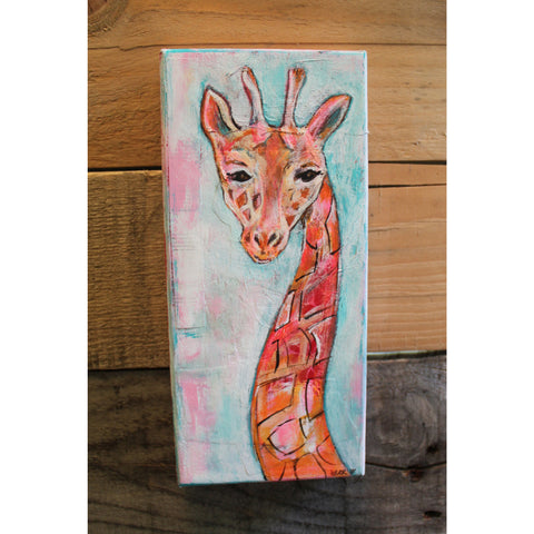 """Giraffe"" Original mixed media painting by Tyler Larsen - BabyLuxDesign"