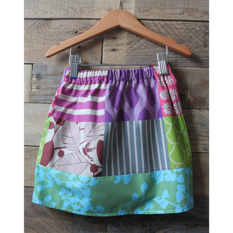 Girls patchworks skirt by Baby Lux Design