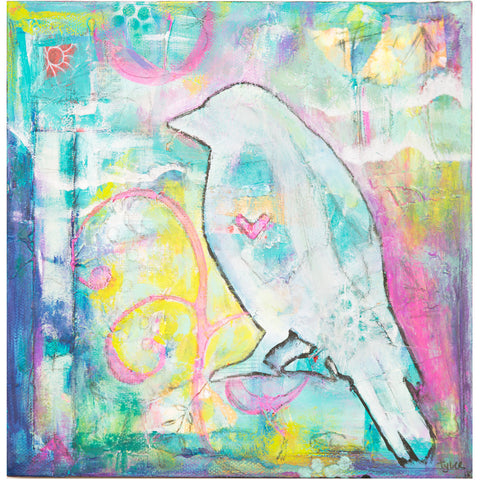 Bird On Art Print - BabyLuxDesign