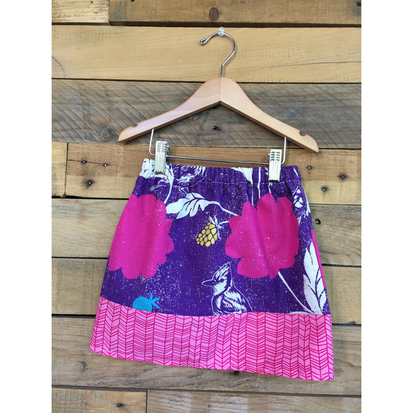 Pink Dahlia Girls Skirt - BabyLuxDesign