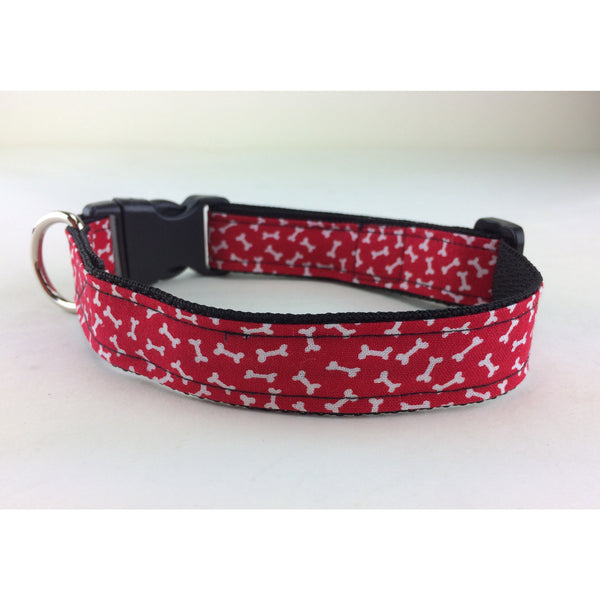 Red, White & Bones Collar