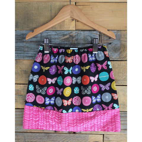 Flutterbug Pink Girls Skirt - BabyLuxDesign