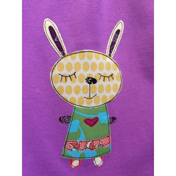 Girl's Patchwork Bunny T-shirt - BabyLuxDesign