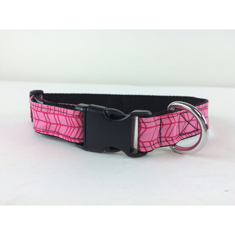 Pink Herring Batik Dog Collar