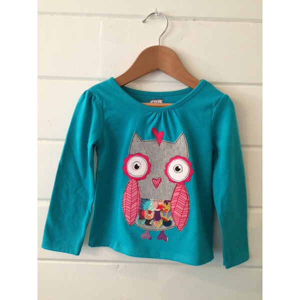 Owl applique tshirt