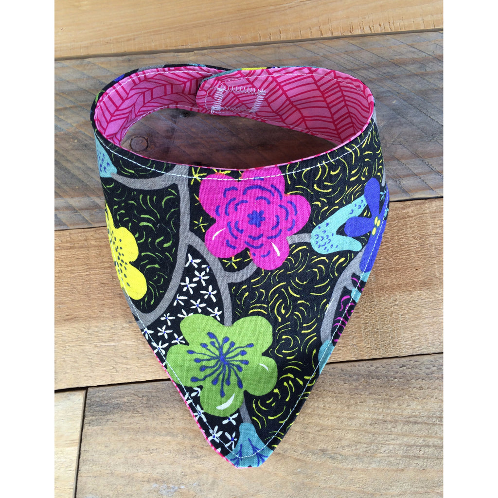 Midnight Bloom Drool Bib - BabyLuxDesign
