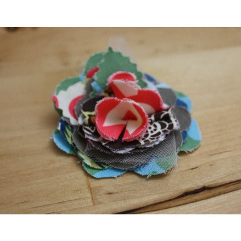 Fabric Flower Hair Clips - BabyLuxDesign