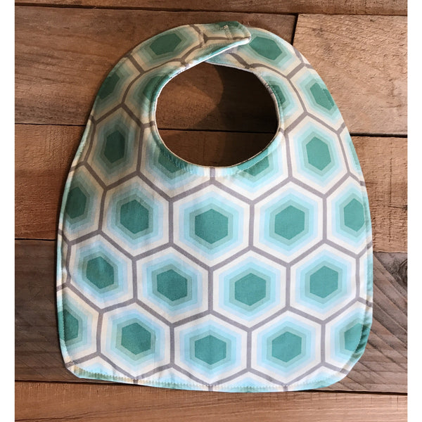 Petite Hexagon Bib & Burp Cloth Set - BabyLuxDesign
