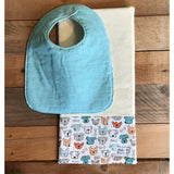 Dog-town Bib & Burp Cloth Set - BabyLuxDesign