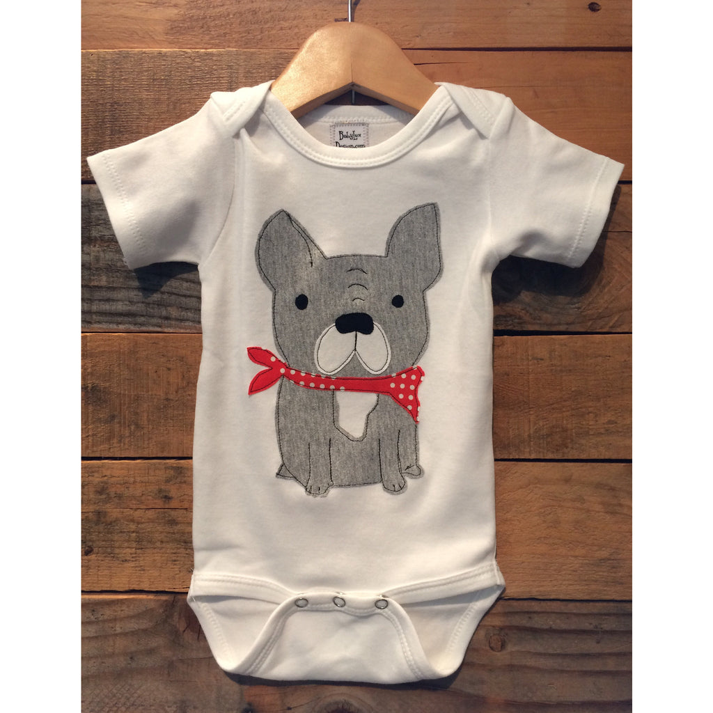 Baby Lux Design French Bulldog baby onesie