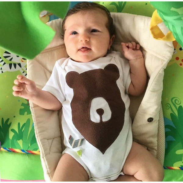 Baby Lux Design Bear onesie baby model