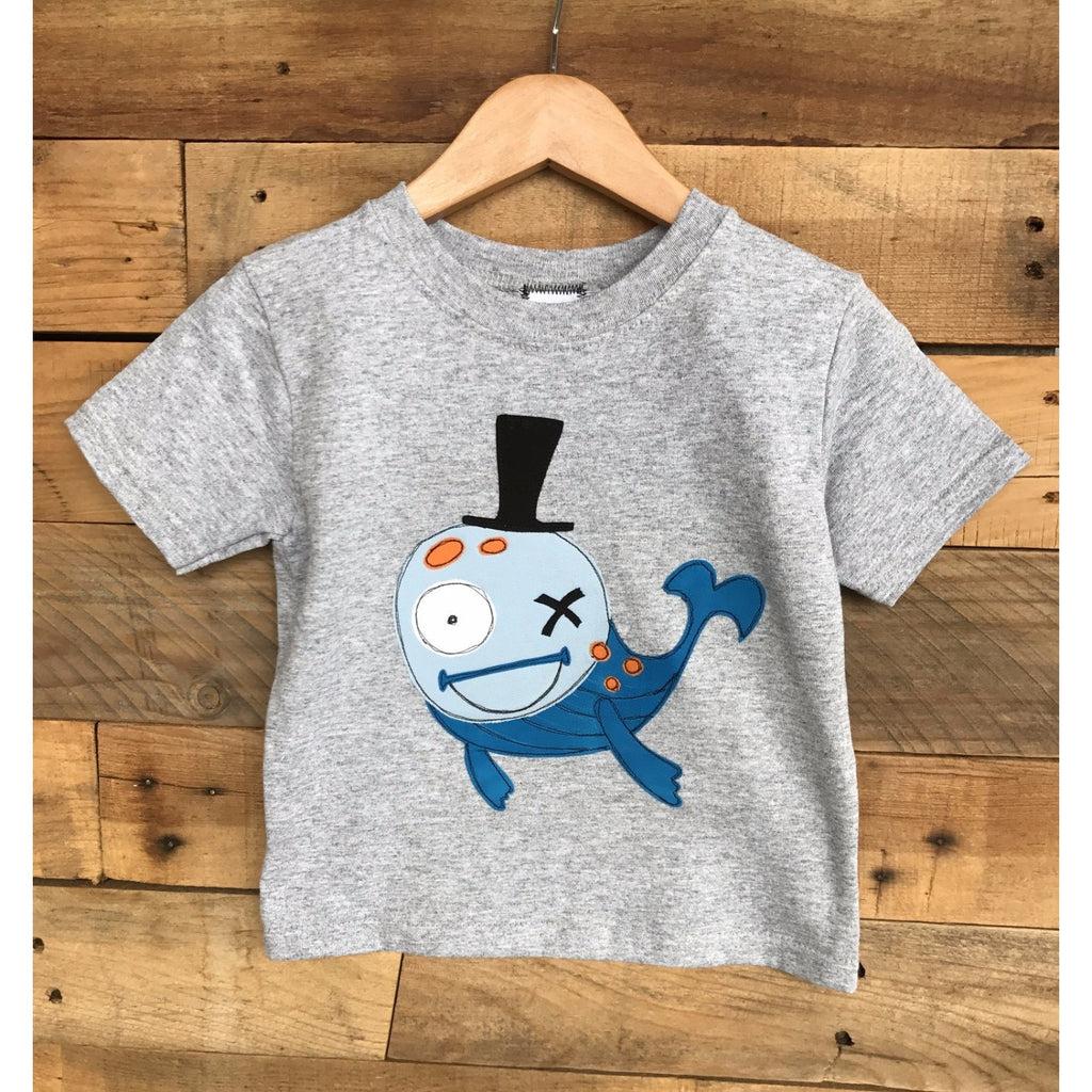 Baby Lux Whale one of a kind applique tshirt boys 2t