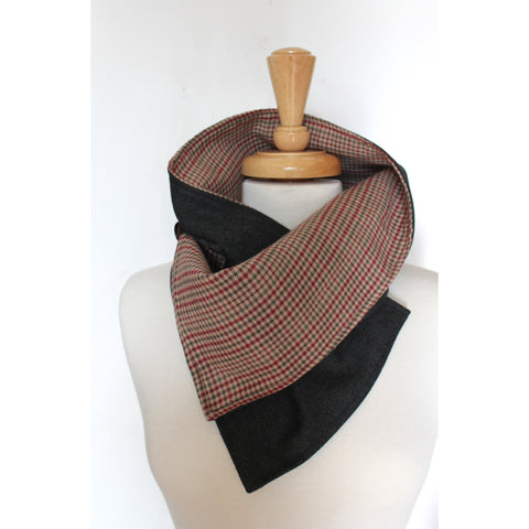 Charcoal Plaid Cowl - BabyLuxDesign