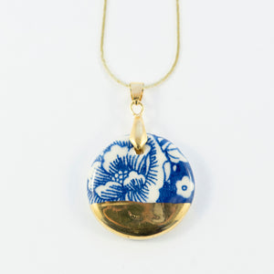 Floral and Gold Medallion Pendants