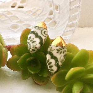Gold-Dipped Earrings - Sea Soul Studio - Handmade Ceramics - Tasmania