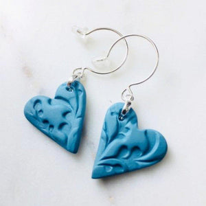 Sweetheart Earrings - Sea Soul Studio - Handmade Ceramics - Tasmania
