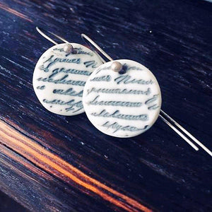 Love Letter Earrings - Sea Soul Studio - Handmade Ceramics - Tasmania