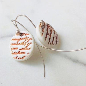 Love Letter Earrings-Sale | Sea Soul Studio | Handmade Artisan Ceramics Tasmania