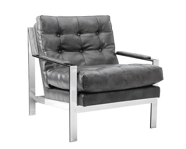 Picture of Court Armchair - Stainless Steel/Cantina Magnetite