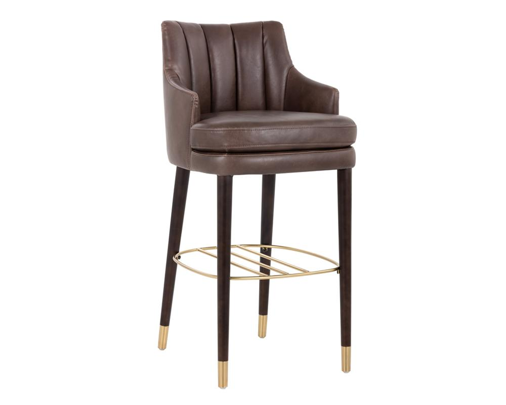 Valerie Barstool - Havana Dark Brown