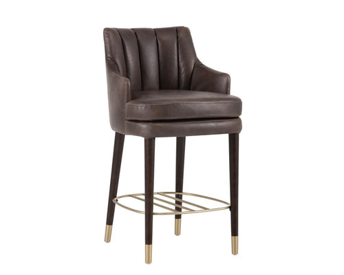 Valerie Counter Stool - Havana Dark Brown