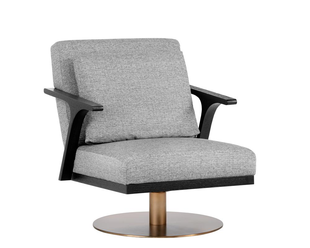 Alisa Swivel Chair - Milestone Grey