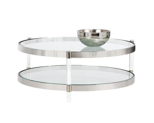 York Coffee Table - Stainless Steel