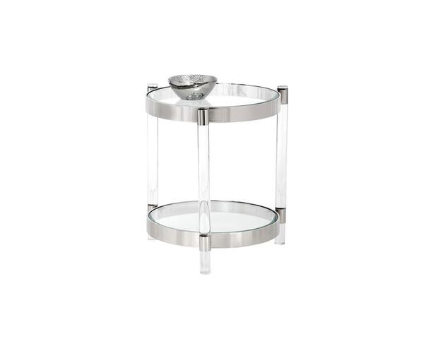 York Side Table - Stainless Steel