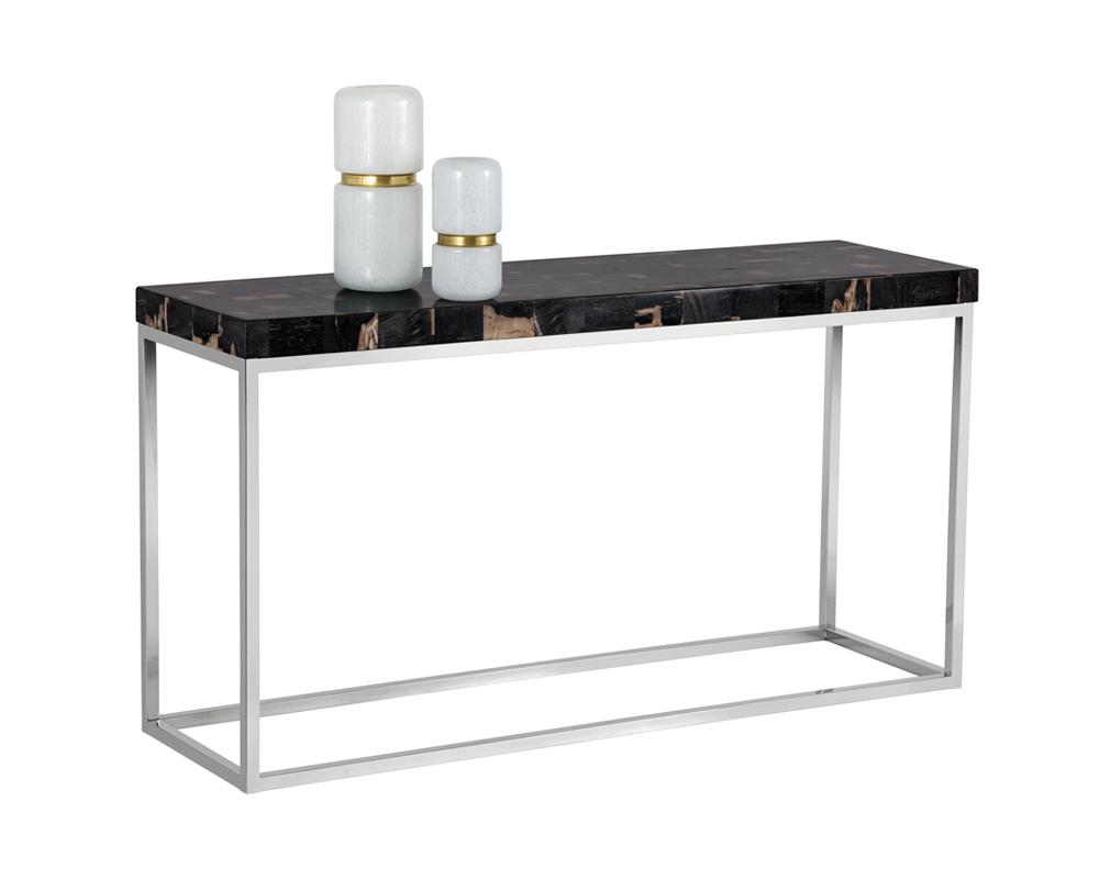 Picture of Angelo Console Table - Black Petrified Wood