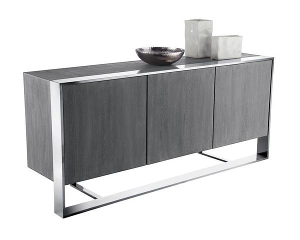 Picture of Dalton Sideboard - Stainless Steel/Grey
