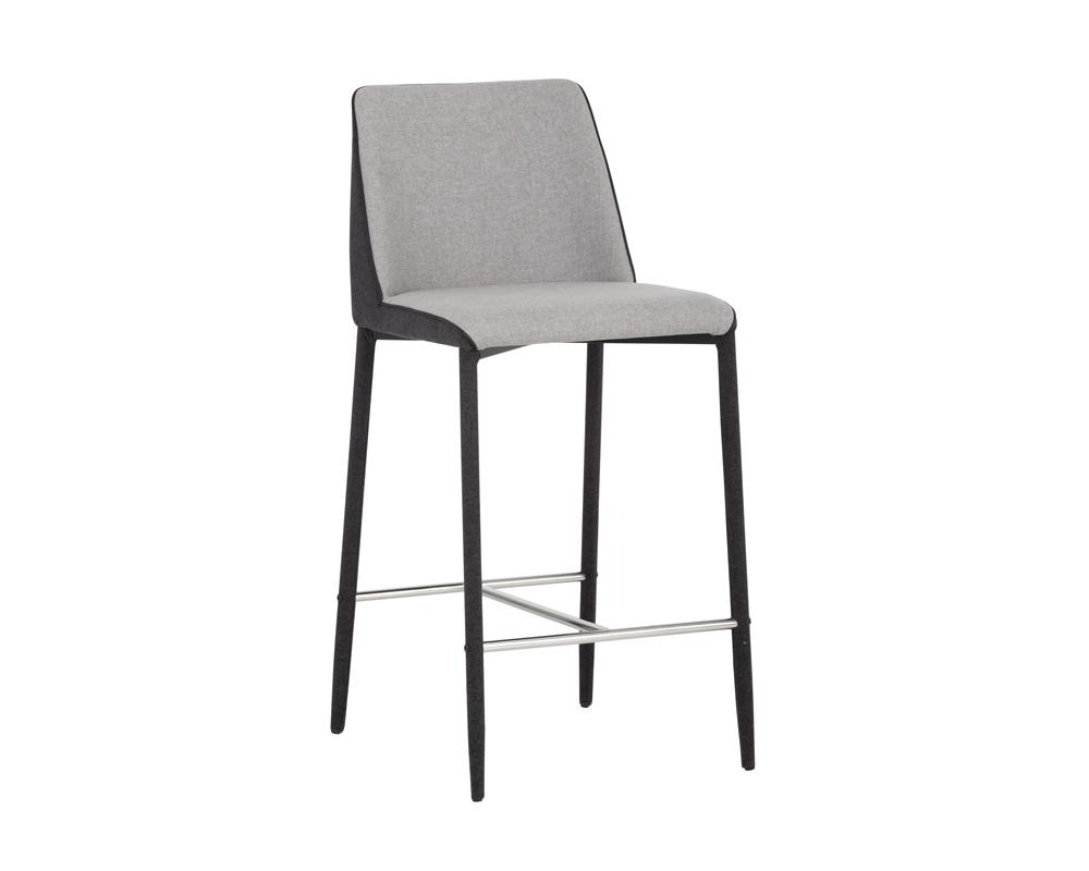 Renee Counter Stool - Armour Grey/Dark Slate