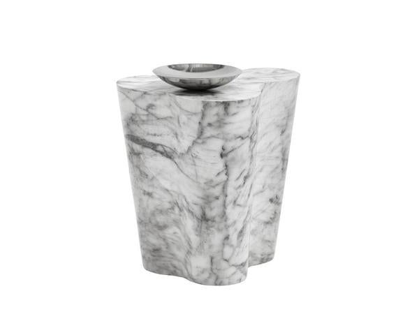 Ava End Table - Small Marble Look