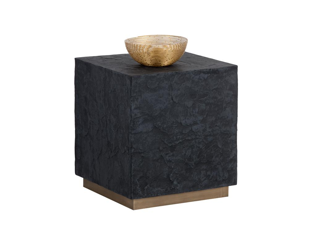 Picture of Newbury Side Table - Black Slate