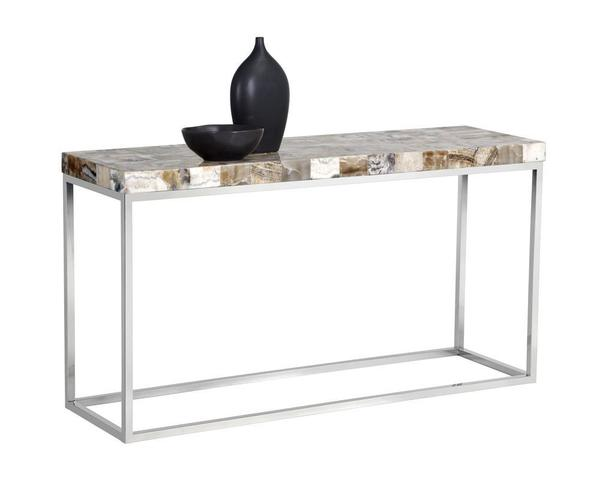 Angelo Console Table - White Onyx Stone
