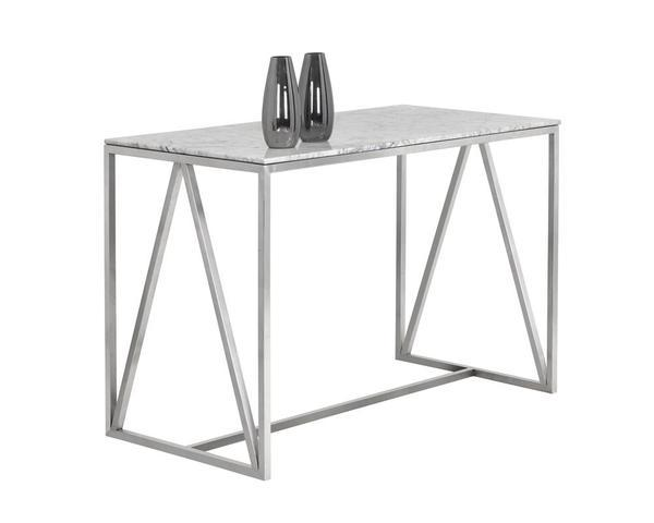 Picture of Abel Counter Table - Stainless Steel with White Marble