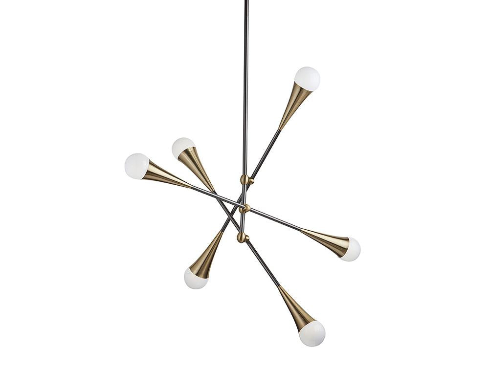 Picture of Zenith Ceiling Light - Brass and Black