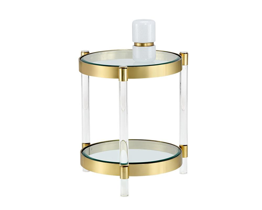 Picture of York Side Table - Brass