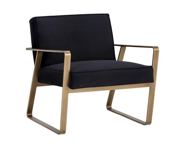 Kristoffer Lounge Chair - Abbington Black Fabric