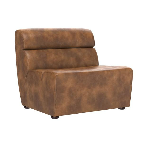 Cornell Modular - Armless Chair - Faux Leather