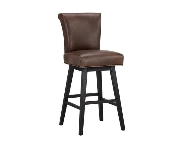 Hamlet Swivel Barstool - Havana Dark Brown