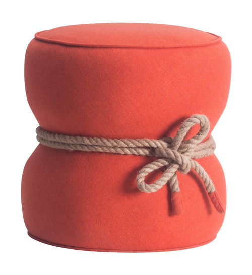 Tubby Ottoman Orange