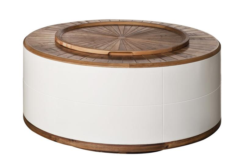 Casablanca Round Coffee Table with Storage