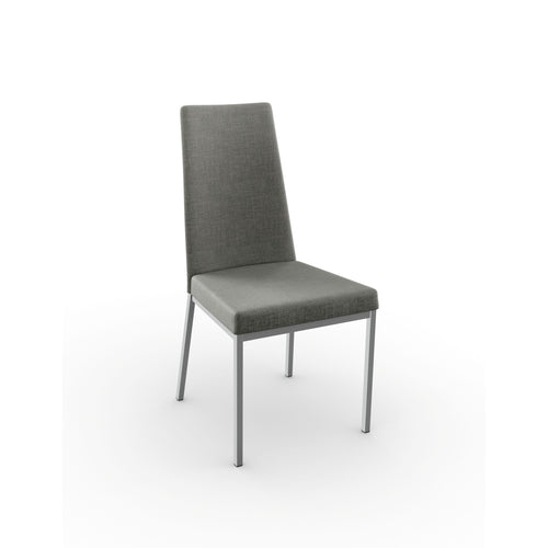 Modern upholstered dining chair with metal legs