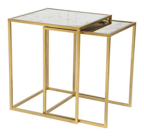 Calais Nesting Tables Brass